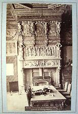 PHOTO ORIGINAL ALBUMEN 1880 ANVERS CHEMINÉE HOTEL DE VILLE CABINET BOURGMESTRE
