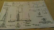 1906 PRR Pennsylvania Railroad Wooden Mail Pickup Crane Standard Plans Poster