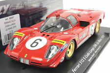 FLY C72 FERRARI 512S LE MANS 1970 NEW 1/32 SLOT CAR IN DISPLAY CASE