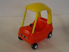 Vintage Little Tikes DOLLHOUSE Size Red Yellow Crazy Coupe Car Toy