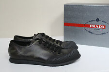 sz 8 US / 7 UK Prada Americas Camo Leather Rubber Toe Lace up Sneaker MEN Shoes