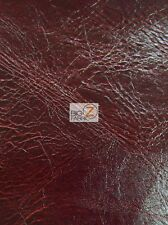 MODERN DISTRESS UPHOLSTERY VINYL FABRIC - Wine Red - BY YARD LEATHER PURSE