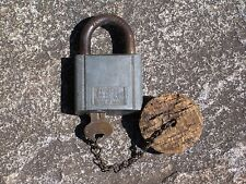 Vintage Chicago Lock Co Padlock with Key Old Lock Gate Chest Chain Door