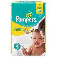 Pack Of 204 Pampers Size 3 Baby Premium Protection Monthly Saving Nappies Nappi