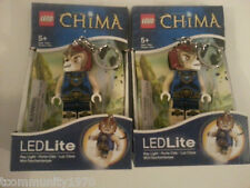 Lego Chima Laval Led Light Up Key Chains - Set Of TWO - Holiday Gift
