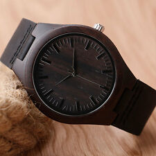 Real Wooden Watch Gift Unique Hand Crafted Mens Watch with Leather hypoallergic