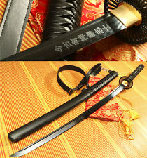 "41"" FOLDED  STEEL BLACK  CLAY TEMPERED FULL TANG JAPANESE SAMURAI SWORD KATANA"