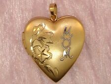 """BEAUTIFUL 14K GOLD FILLED """"MOM"""" HEART LOCKET! PERFECT GIFT!"""