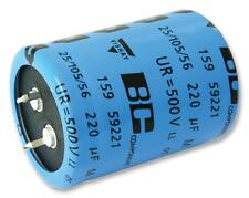 Capacitors - Aluminium Electrolytic - CAP ALU ELEC 100UF 500V SNAP-IN