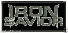 IRON SAVIOR EMBROIDERED PATCH POWER SPEED HEAVY Metal Negro