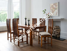 Mandira Wooden Dining table with 6 chairs furniture set !