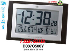 AUSSIE SELER CITIZEN MADE ALARM & WALL CLOCK SNOOZE TEMPERATURE LIGHT D087C500