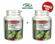 Simply Supplements Ginkgo Biloba 6000mg 120+120 Tablets | Bundle Deal (E403403)
