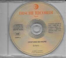 """CRISTIANO DE ANDRE' - RARO CDs PROMO 1990 """" EVITERO'... """""""