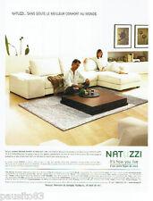 PUBLICITE ADVERTISING 046  2005  Les  salons cuir Natuzzi
