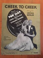 Top Hat 1935 Cheek To Cheek Fred ASTAIRE ROGERS Gold Cover Movie Sheet Music