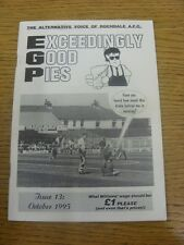 Oct-1995 Fanzine: Rochdale - Exceedingly Good Pies - Issue 13. Any faults are no