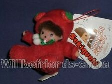 Strawberry Cherry Fruit Baby Monchhichi Plush Mobile Phone Strap Charm Keychain