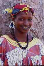 747046 Fulani Girl With Tattooed Lips And Ebony Beads Mopti Mali A4 Photo Print