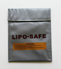 LiPo Tasche 18x22cm Groß Feuerfest  Akku Sack Feuerschutz