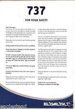 Safety Card - El Al - B737 700 800 - Blue (S3472)