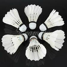 6 x Goose Feather Shuttlecocks Birdies White Badminton Ball Game Sport Training