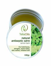 Cold Sores, Shingles, Herpes LEMON BALM Salve, Fast - Natural Antiseptic 3.4oz