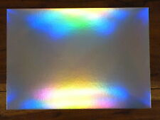 20 SHEETS - SILVER RAINBOW HOLOGRAPHIC A4 CARD 280 GSM