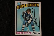 HOF DARRYL SITTLER 1976-77 TOPPS SIGNED AUTOGRAPHED CARD #207 MAPLE LEAFS