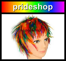 Rainbow Feather Wig Adult Hat Lesbian Gay Pride Costume Party Cap #100