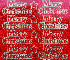 Diamond Sparkle MERRY CHRISTMAS Peel Off Sticker Sheet Card Making Craft 834