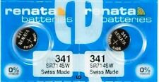 341 RENATA SR714SW (2 piece) D341 Watch Battery Free Shipping Authorized Seller