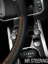 Para Mercedes W202 93-2000 Cubierta del Volante Cuero Verdadero naranja doble puntada
