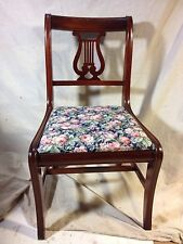 Lyre Side Chair Antique, New Covers, C11pix,ships$69 Greyhound Expres.MAKE OFFER