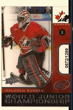 MALCOLM SUBBAN 2015-16 UPPER DECK ICE WORLD JUNIORS CHAMPIONSHIP ROOKIE /1299