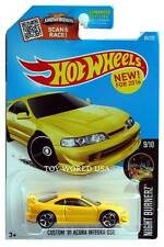 2016 Hot Wheels #89 Night Burnerz Custom '01 Acura Integra GSR yellow chrome O5