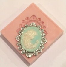 Victorian Lady Cameo I Silicone Mold (SM-189) for Cake Decorating, Fondant