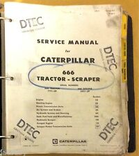 CATERPILLAR 666 TRACTOR-SCRAPER SERVICE MANUAL TRACTOR 77F1-UP SCRAPER 20G1-UP
