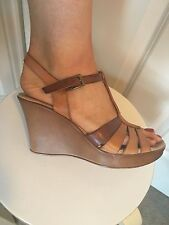 Spanish Leather Summer Wedges Heels Size 8/9