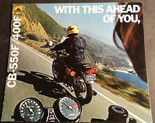 1976 HONDA MOTORCYCLE CB 550F & CB 400F SALES BROCHURE NICE 8 PAGES (523)