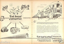 1949 2 Page Print Ad of NRA National Rifle Association 2nd Annual Convention