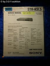 Sony Service Manual STR KSL5 Home Theater Sytem (#5453)