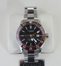 NEW CHRISTOPHER WARD C60 Trident GMT 600 Men's Automatic 43mm St. Steel Watch