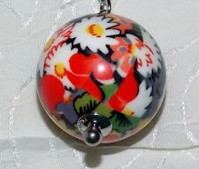 Vera Bradley Have a Ball Keychain Multi Key Ring with Hook/Purse in Poppy Fields