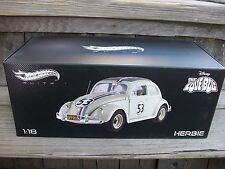 Mattel Hot Wheels Disney Herbie Love Bug VW Volkswagon Beetle DieCast ELITE 1/18