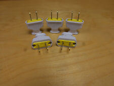 OLD style lamp PLUGS, WHITE , NEW , lamp parts
