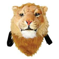 Lion Backpack - Plush Stuffed Animal Head Book Bag - Cute Gift