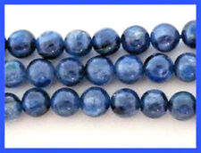6mm Dark Blue Kyanite Smooth Round Beads (10)