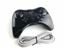 Official Nintendo Wii U Pro Black Wireless Controller & Charge Cord