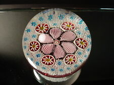Scarce Vintage Caned Millefiori Paperweight Fratelli Toso Murano Eames Era